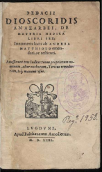 Arnoullet 1554 Dioscorides Servetus