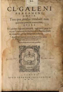 Opera Omnia Galen Servetus Frellon