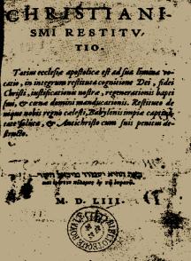 Christianismi Restitutio cover 1