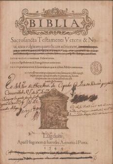 Biblia Sacrosancta 1544 testamenti veretis Servetus Frellon
